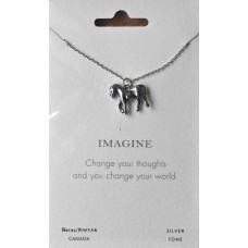 "Inspirational ""Imagine"" Pendant Necklace"