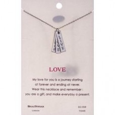 "Inspirational ""Live, Love, Laugh"" Pendant Neckalce"