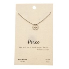 "Inspirational ""Peace"" Pendant Necklace"