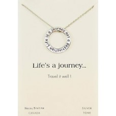 "Inspirational ""Life's A Journey"" Pendant Necklace"