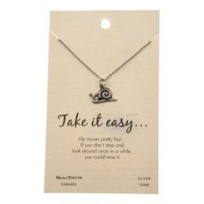 "Inspirational ""Take it easy"" Pendant Necklace"